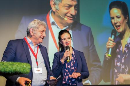Ramona van Zweden in gesprek met landelijke voorzitter ZLTO