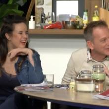 Ramona van Zweden en Danny van Oost lachend